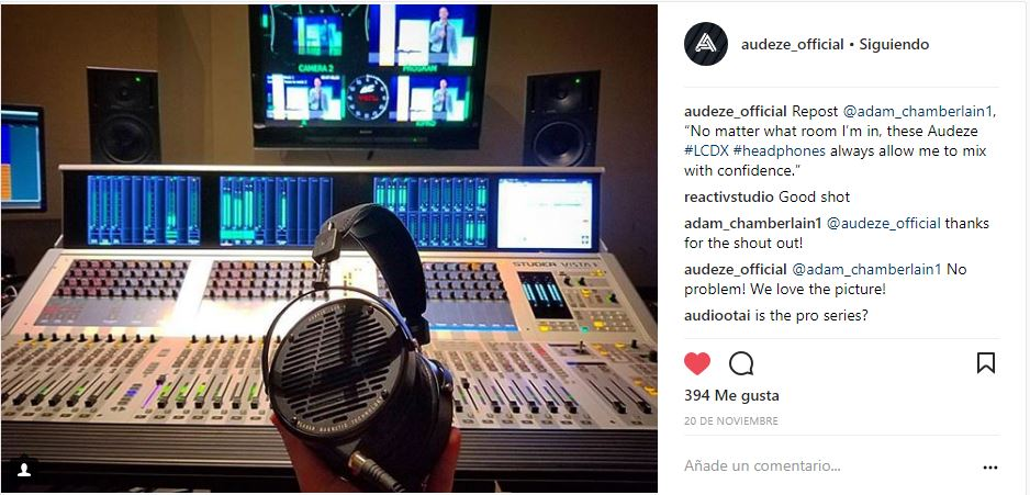 Instagram audeze official